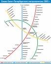 Схема СПб метрополитена 2005 СПб.