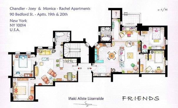 создает планы квартир из
