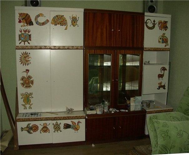 Декор старой стенки своими руками пошагово 68