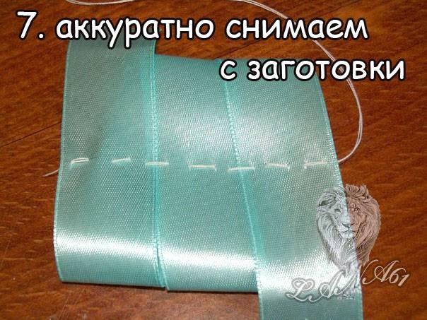 Резинки для волос из ленточек своими руками