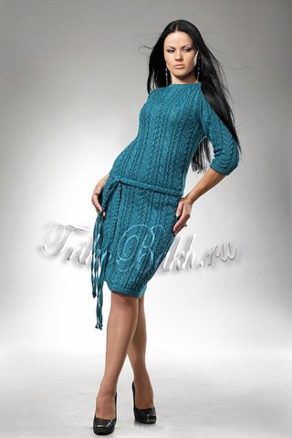 вязанные платья женские