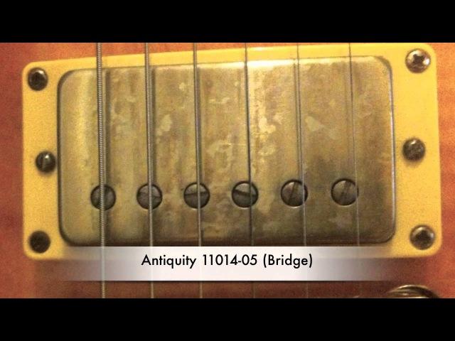Seymour Duncan Antiquities Gibson Burstbucker Pros humbuckers demo/comparison