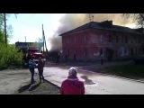 Сегодня утром во дворах на Петра Сухова горели старые постройки
