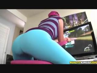 PornoStar ∞ Секси девушка обтягивающие лосины леггинсы упругая попка стройные ножки ню sexy girl leggins big ass pantyhose anal