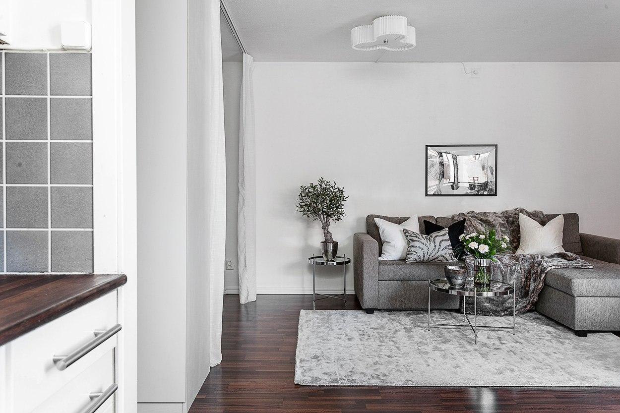 Интерьер квартиры-студии 37,5 м.