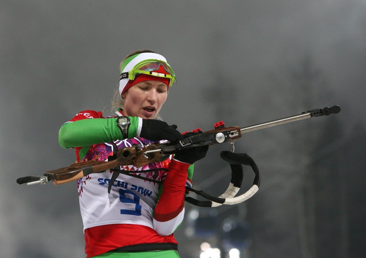 Победа Дарьи Домрачевой на Олимпийских играх в Сочи. Гонка преследования 10 км.