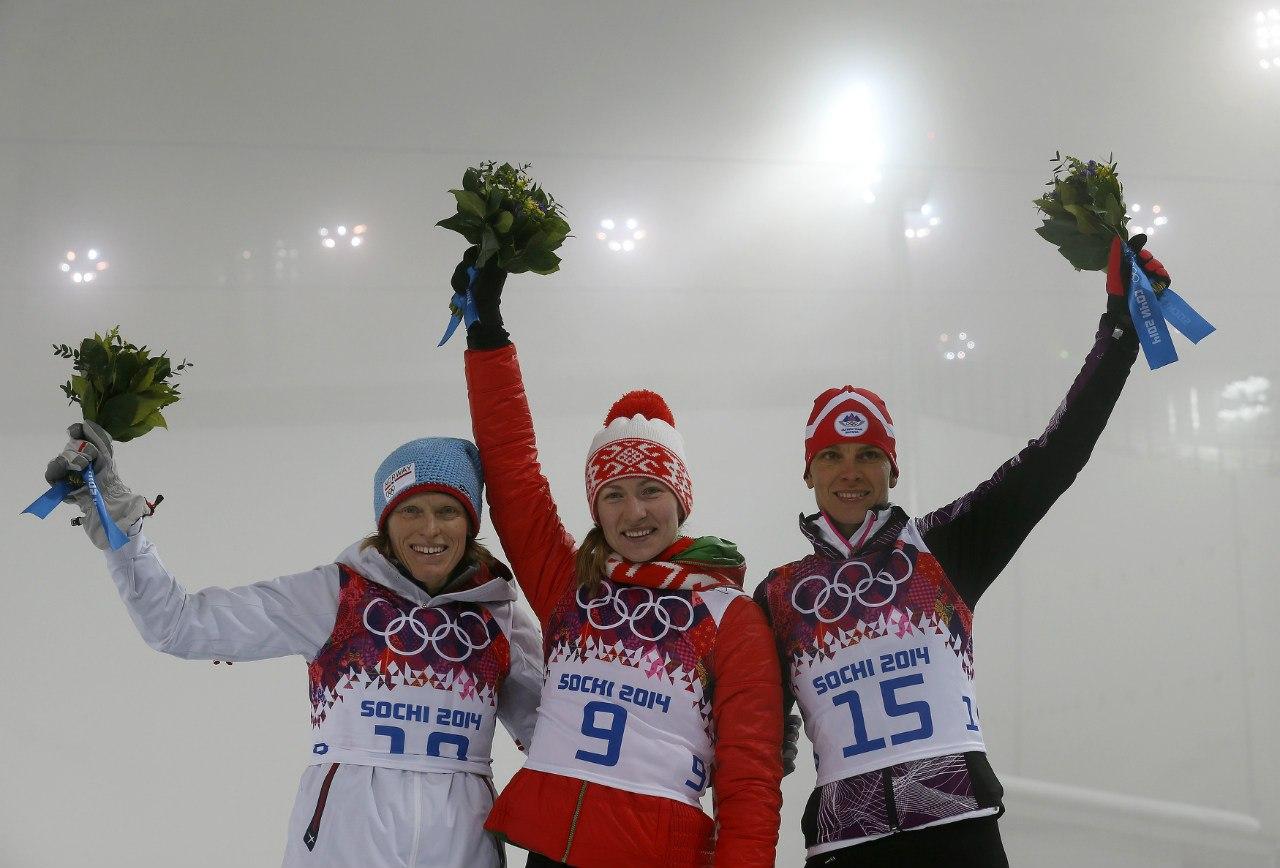 Победа Домрачевой в Сочи 2014
