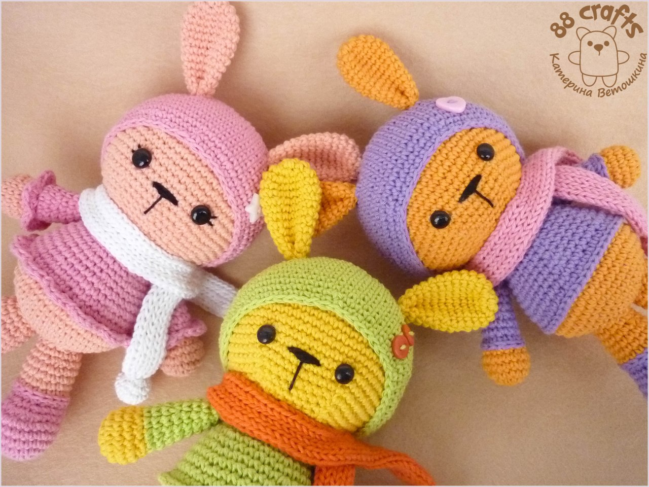 Самые легкие игрушки для вязания крючком
