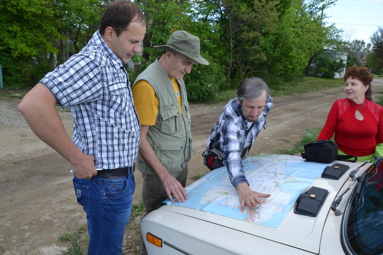Обсуждение плана экспедиции с крымскими коллегами