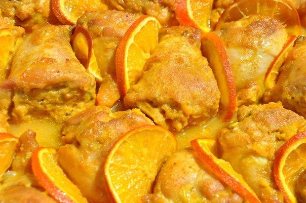Куриные ножки с апельсинами рецепт с фото