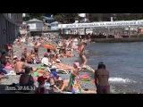 Крым Ялта пляж и набережная 27 Июня 2014