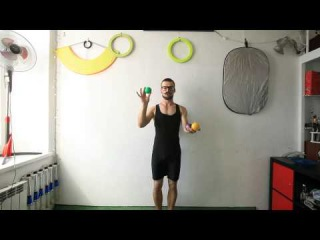 #47.3.Упражнение Ямамура III видео уроки по жонглированию от ПГ