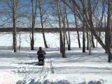 Самодельный снегоход Снегирек.wmv