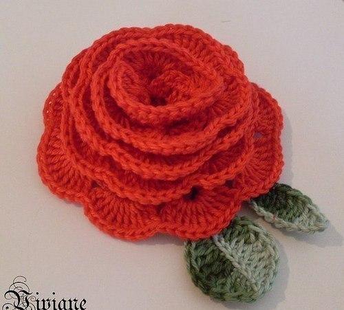Вязание крючком. Роза