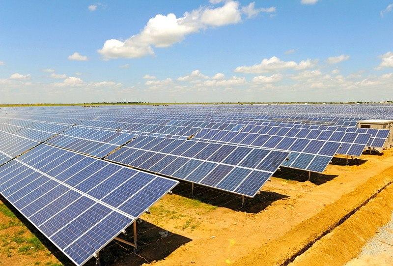 Новая солнечная электростанция в Украине