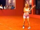 Caroline Wozniacki Training with Victoria Azarenka @ Porsche Tennis Grand Prix 2010 Stuttgart Pt 1