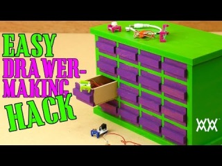 Make a small-parts storage cabinet. Making all the drawers is simple!