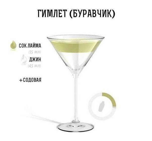 ТОП-10 рецептов алкогольных коктейлей в картинках. Порадуй на выходных друзей ;)