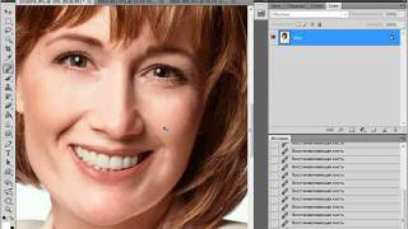 Омолаживание лица в Photoshop CS5