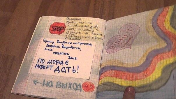 Записи в дневниках личных и рисунки