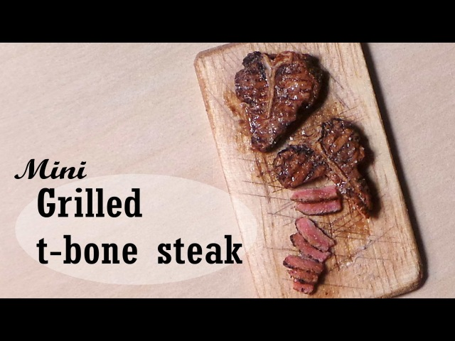 Miniature Steak (Grilled / Cooked) - Polymer Clay Tutorial