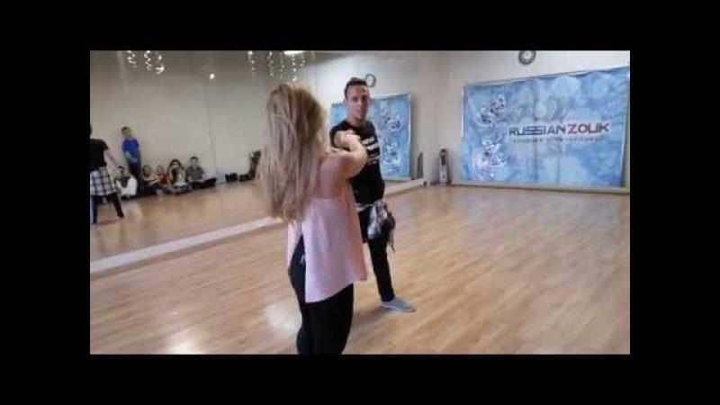 Carlos Oliveira Anastasia - Imbranato Zouk demo at Ipanema Dance Studio