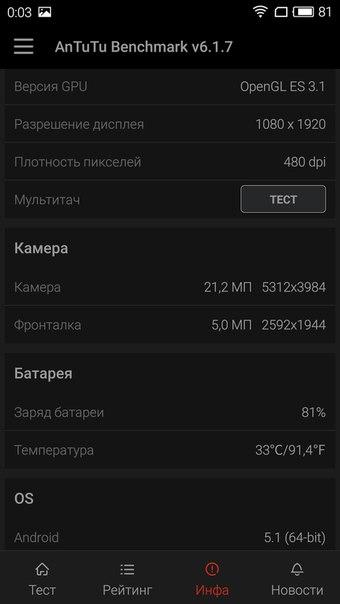 Meizu Pro 5 32GB 3GB Grey (Серый) фото