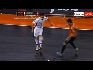 Falcao Amazing Rainbow Lob on Júlio - Sorocaba 3 x 2 Carlos Barbosa | Futsal 9.2.2014