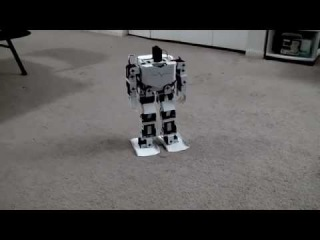 Android controlled 17 dof biped robot arduino + ssc-32 + JY-MCU