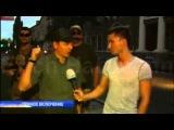 Драный следопыт Ляшко со своим отрядом в Бердянске (27-07-2014)