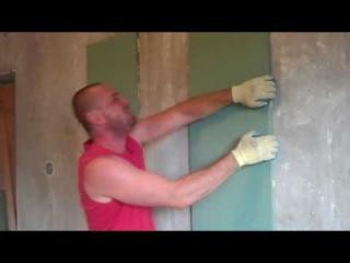 Гипсокартон на монтажную пену. Выровнять стену - просто!