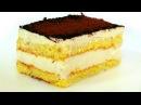 Торт Парсла . Воздушный бисквит и нежный крем из творога и сливок.
