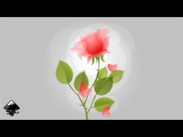How to draw a rose in Inkscape