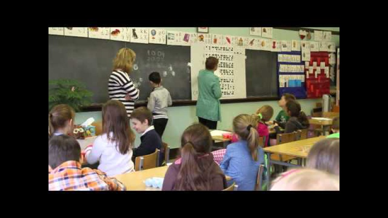 O alfabecie Braila - lekcja w Polskiej Szkole Konsularnej w Nowym Jorku.