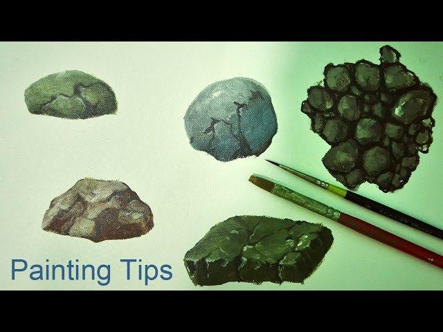 Acrylic Painting Lesson - How to Paint Rocks by JMLisondra