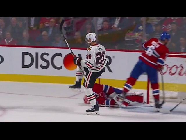 Saad makes a nifty play that leads to his fifth goal of the season