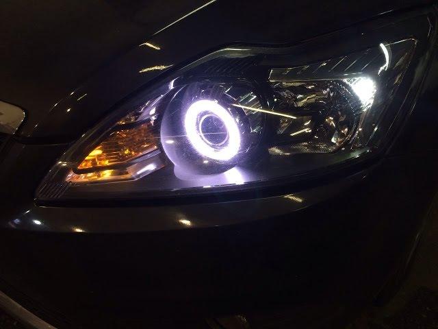 Ford Focus 2. Биксенон. Ангельские глазки.