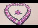 Kalp üzerine çiçek motifli lif modeli