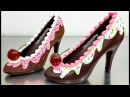 How To Make a CHOCOLATE HIGH HEEL SHOE / Tempered Chocolate Royal Icing by Cakes StepbyStep