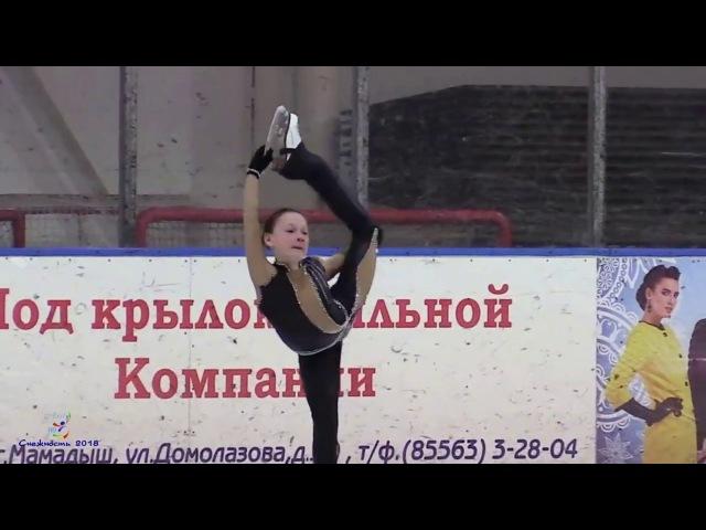Снежность 2018 ФазуллинаКарина, 1 спортивный, Короткая программа, Набережные Челны, AxelHD