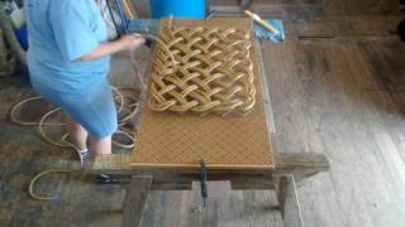 Time lapse making a rope mat