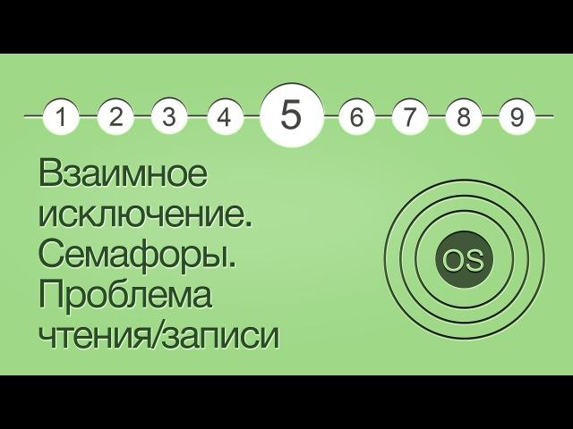 Операционные системы, урок 5: Взаимное исключение. Семафоры. Проблема чтения/записи.