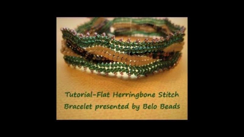 Tutorial - Flat Herringbone Bracelet, Easy Step by Step Instructions