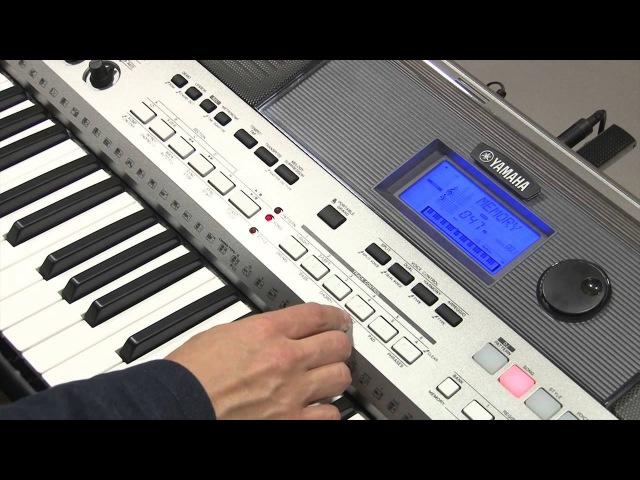 Функция обучения SONG LESSON инструмента Yamaha PSR-E443