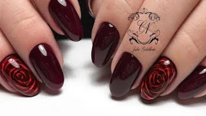 3D цветок на ноготках КЛИЕНТА\СЛОЖНЫЕ руки\ ЭФФЕКТНЫЙ дизайн ногтей\