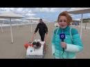 Машинка для очистки пляжа в Янтарном