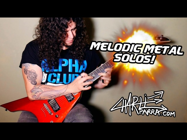 4 Melodic Metal Guitar Solos 2018 (TABS Backing Tracks)