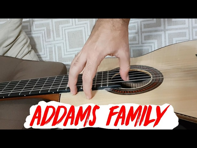 The ADDAMS FAMILY THEME - Fingerstyle Guitar (Marcos Kaiser)