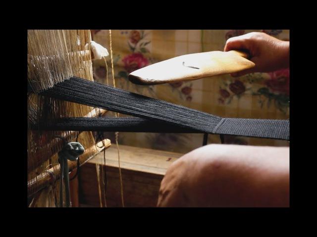 Loom Weaving Demonstration in Romanian Villages