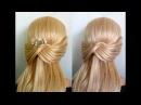 Просто, быстро за 5 минутпричёска на каждый день в школу, на работу для средних/длинных волос